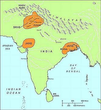 Concentration of jains in india today